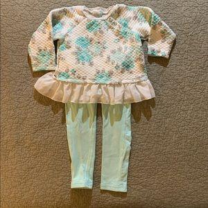 [3T] EUC Girls Aqua Tones Outfit/Mini Lot